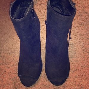 Super cute and comfy black and gold booties